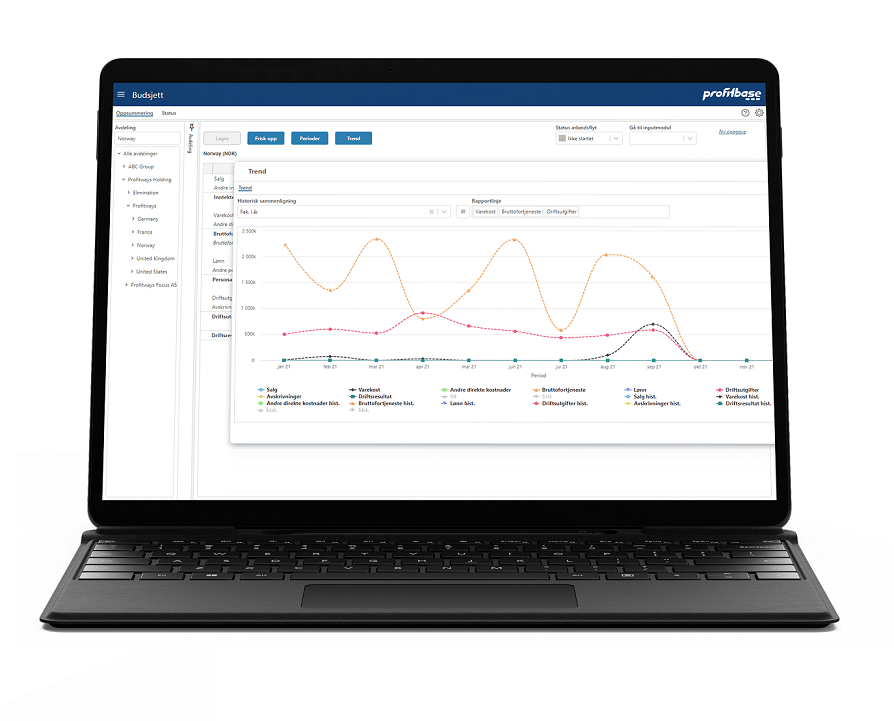 Profitbase Planner - Budget trend