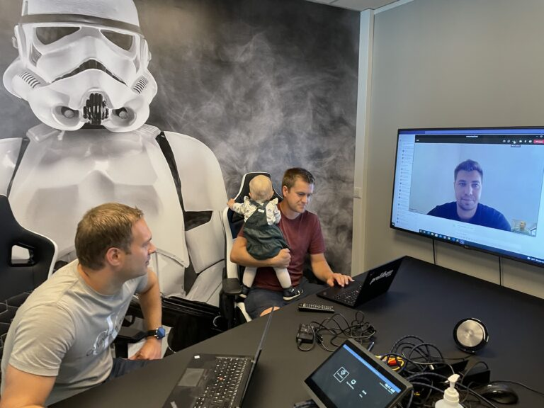 Profitbase development team meeting